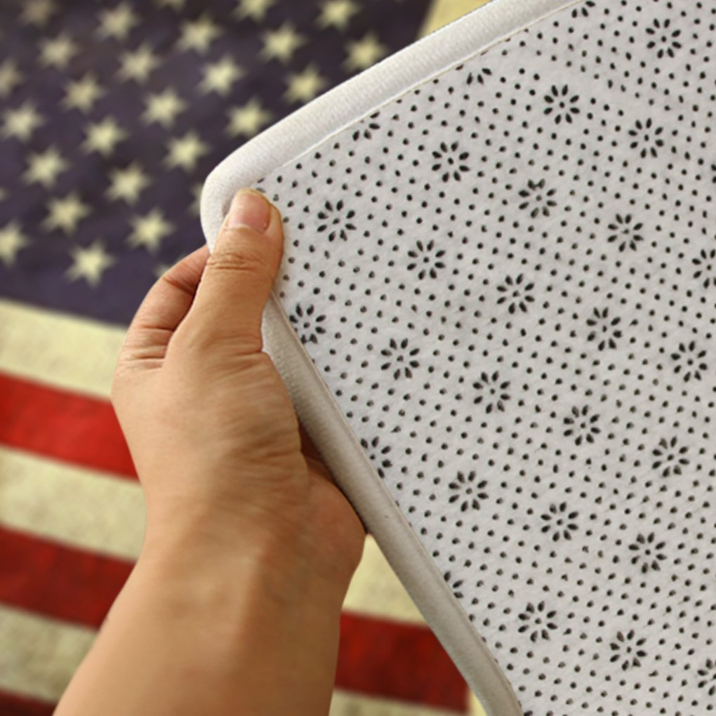 Soft Flannel Welcome Door Mat Non Slip Vintage American Flag ...