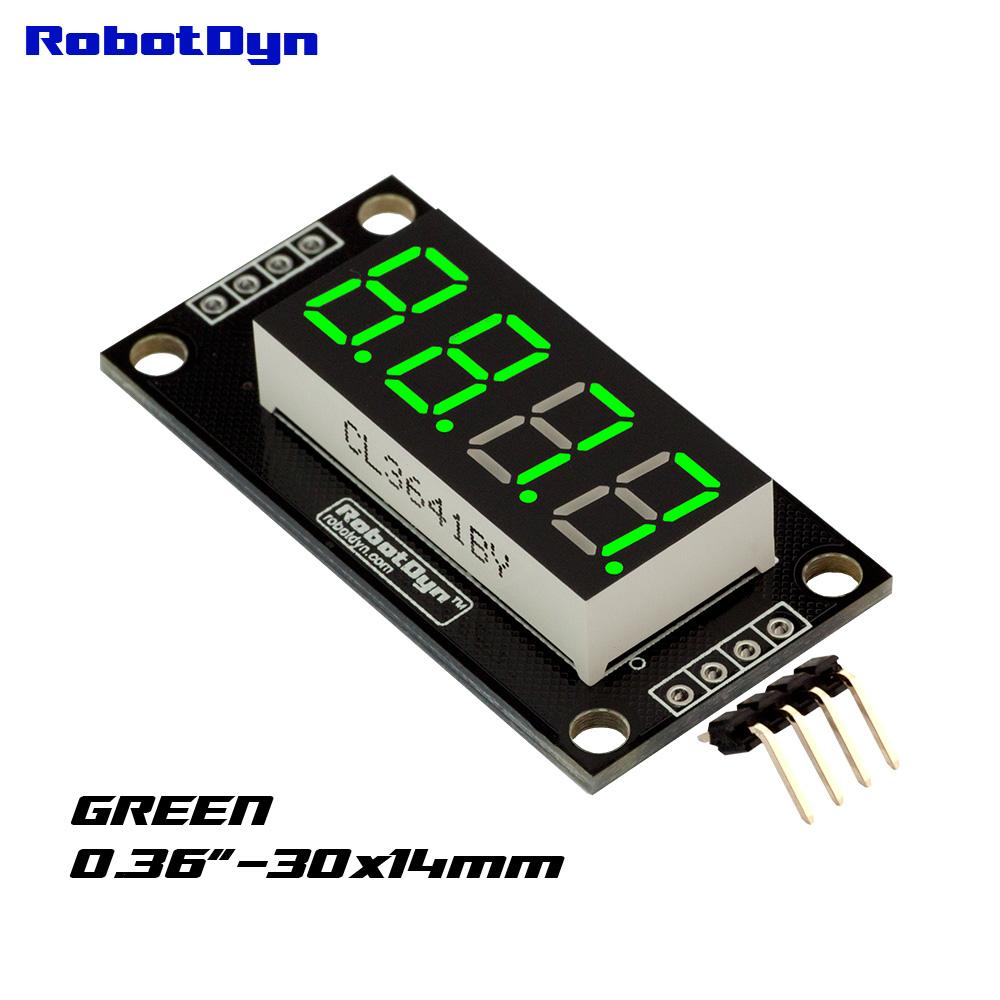 Семи сегментный индикатор зелёный