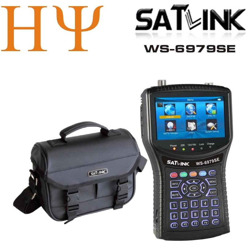 Original Satlink WS 6979SE DVB S2 DVB T2 MPEG4 HD COMBO Spectrum Satellite Meter Finder satlink