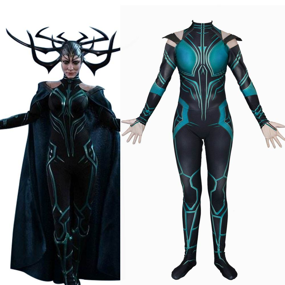 Hela Cosplay Costume Thor 3 Ragnarok Goddess Of Death Costumes For Women Jumpsuits Halloween Carnival Adult Costume Outfit