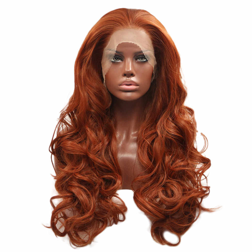 MUQGEW 2019 New Arrival Women Wigs Curly Wig Glueless Full Lace Wigs Red Women  Indian Remy 5fbde6cd7c
