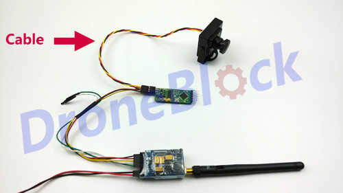 2 Pcs Sony CCD FPV Camera Transmitter OSD cable wire connector