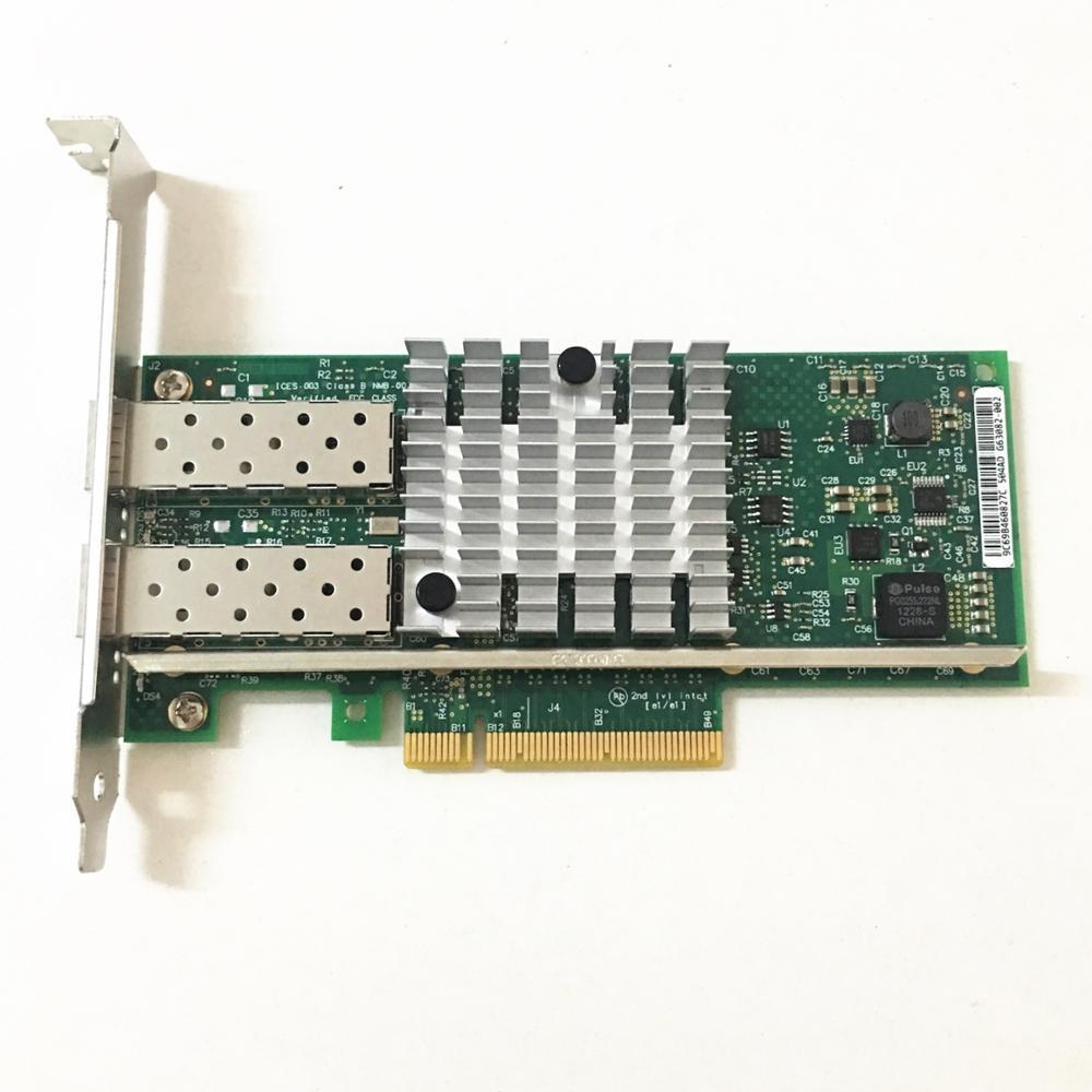 China OEM X520-DA2 10G SFP+ Dualport PCIe 2.0 X8 Intel 82599ES Chip Ethernet Network Adapter