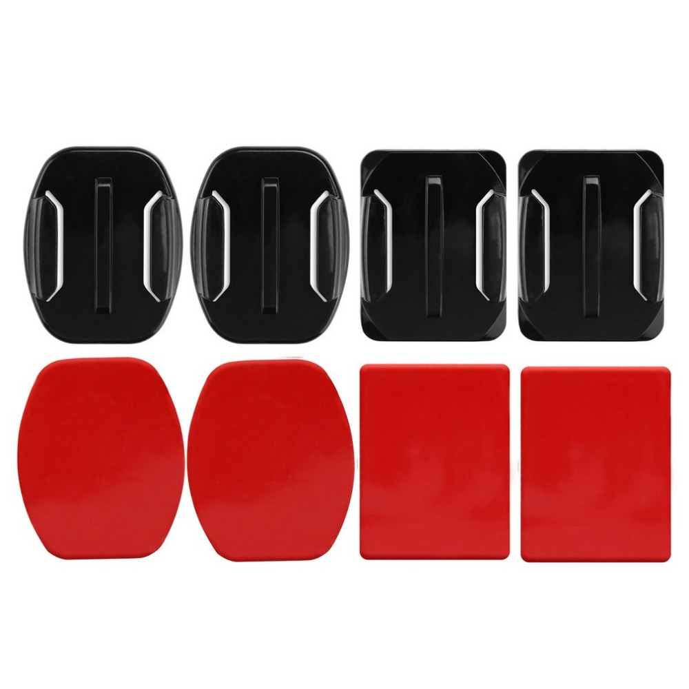 Adhesive Sticky Pads Stickers Fixed For  Hero Base Parts Mounts Flat Curved Base Helmet Sticker Action Camera Accessories