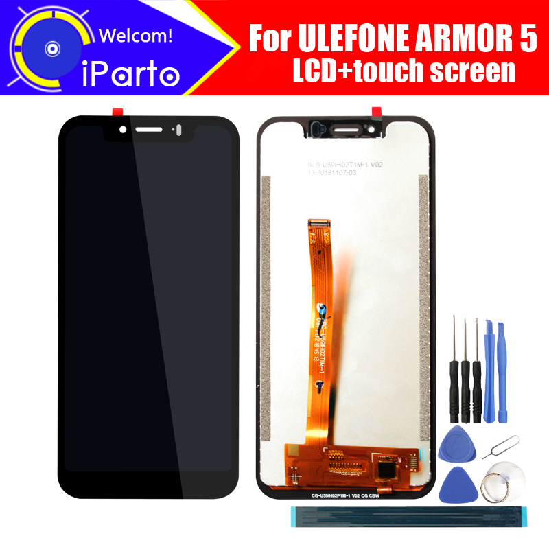 5 85 inch ULEFONE ARMOR 5 LCD Display Touch Screen Digitizer Assembly 100 Original New LCD