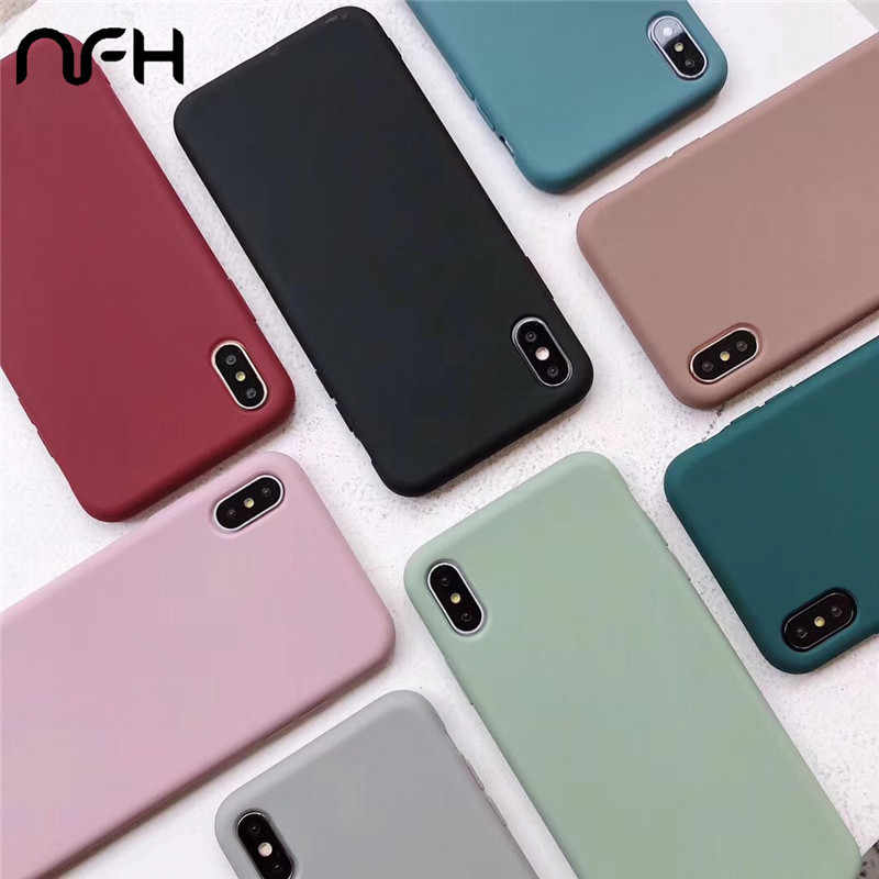 Funda de silicona suave para iPhone 6 6S 7 Plus funda de teléfono 8Plus para iPhone XS XR XS X 11 Pro Max funda trasera