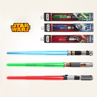 1pcs Real Brand Star Wars Combination Telescopic Lightsaber Led Flashing Light Sword Toys Cosplay Weapons Electric