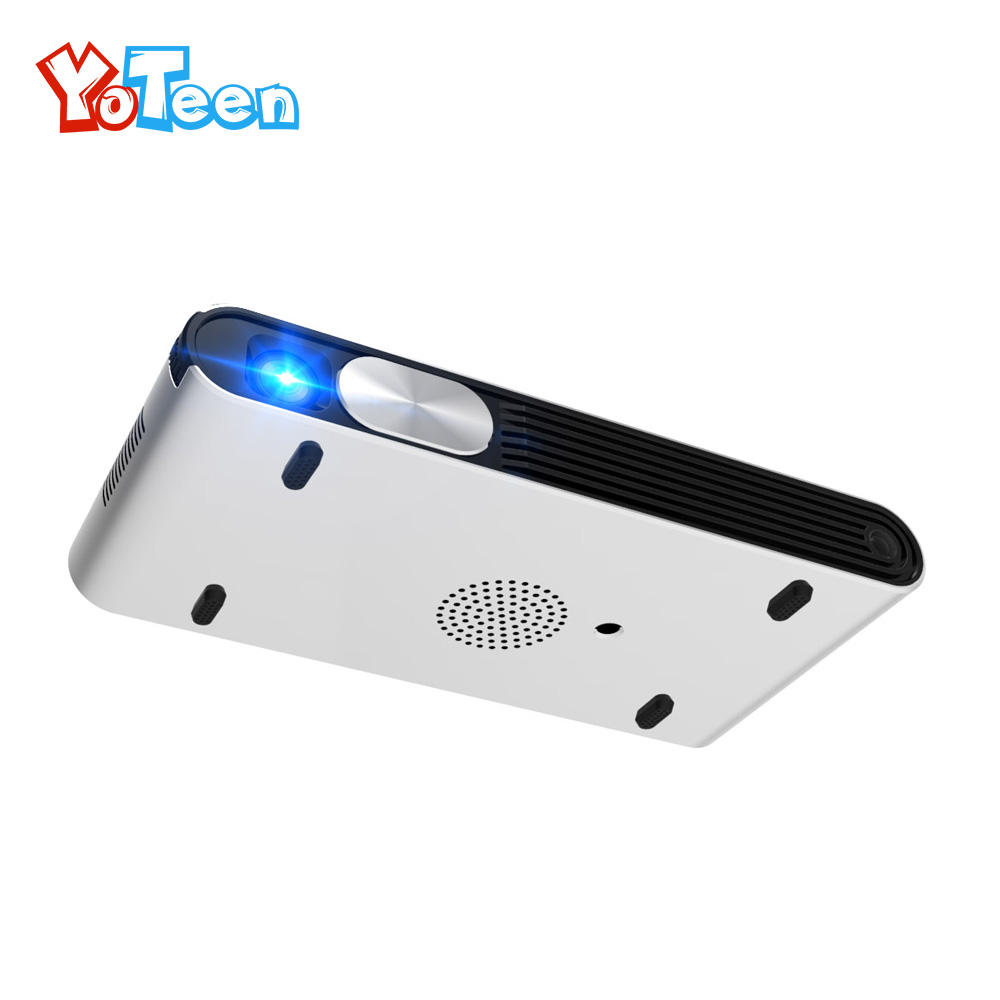 Yoteen K2 DLP Projector 1280X720 Active 3D Android DLP WiFi Portable Handheld Smart Projector WIFI HDMI Projector Home Theater