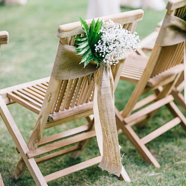 Free Shipping 5pcs 30x275cm Shabby Chic Wedding Burlap Hessian Table Runner  Rustic Wedding Decoration Jute Burlap