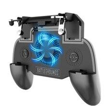 GAMING Grip แบบพกพา Charger พัดลมระบายความร้อน, สำหรับ Pubg Mobile Controller L1R1 เกมมือถือ Trigger จอยสติ๊กสำหรับ 4 6.5 นิ้วโทรศัพท์
