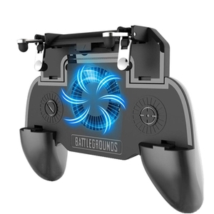 Image 1 - Gaming Grip With Portable Charger Cooling Fan,For Pubg Mobile Controller L1R1 Mobile Game Trigger Joystick For 4 6.5 inch Phon