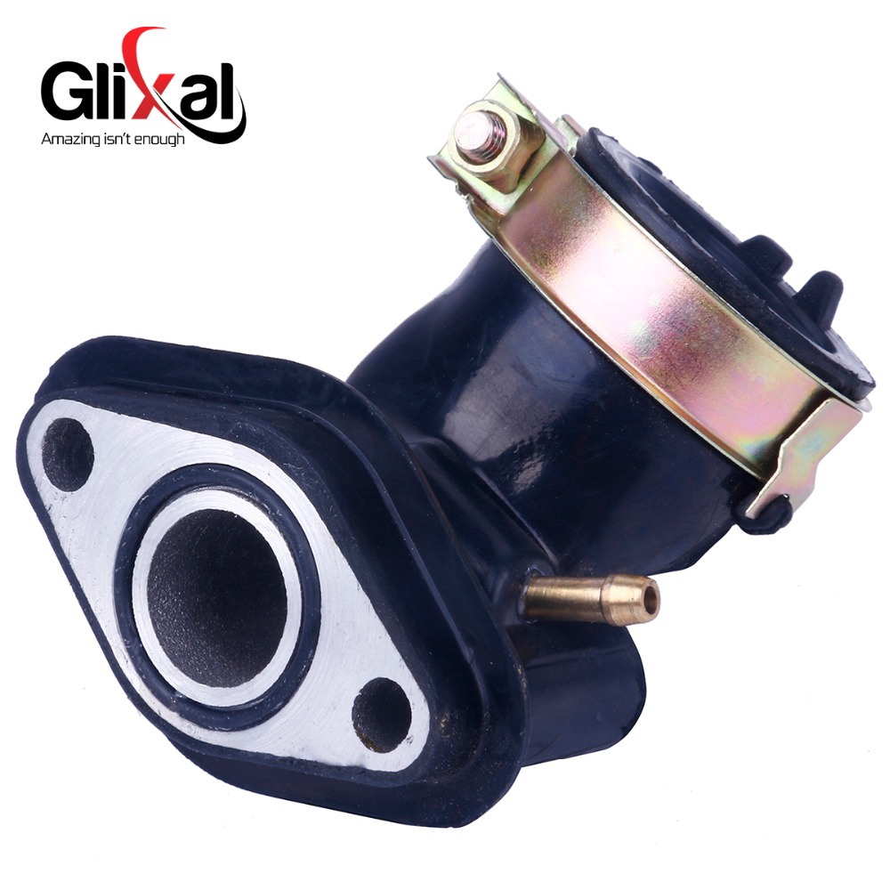 Glixal Carburetor Intake Manifold for 49cc 50cc GY6 Scooter Moped ATV Go-Kart Buggy 139QMB 139QMA (1 Vacuum Port)