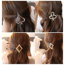 Фотография 1PC Women Lady Girls block hair clip Alice Poker Heart Hair Clip Delicate Hairpin Barrettes Jewelry Hair Decorations Accessories