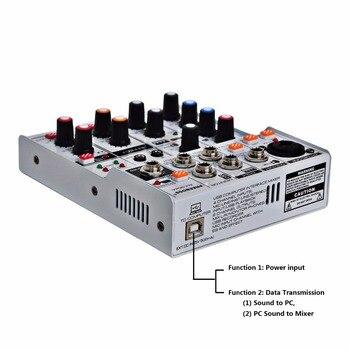 AM-G04A Bluetooth Record Multi-purpose 4 Channels Input Mic Line Insert Stereo USB Playback Professional Audio Mixer 1