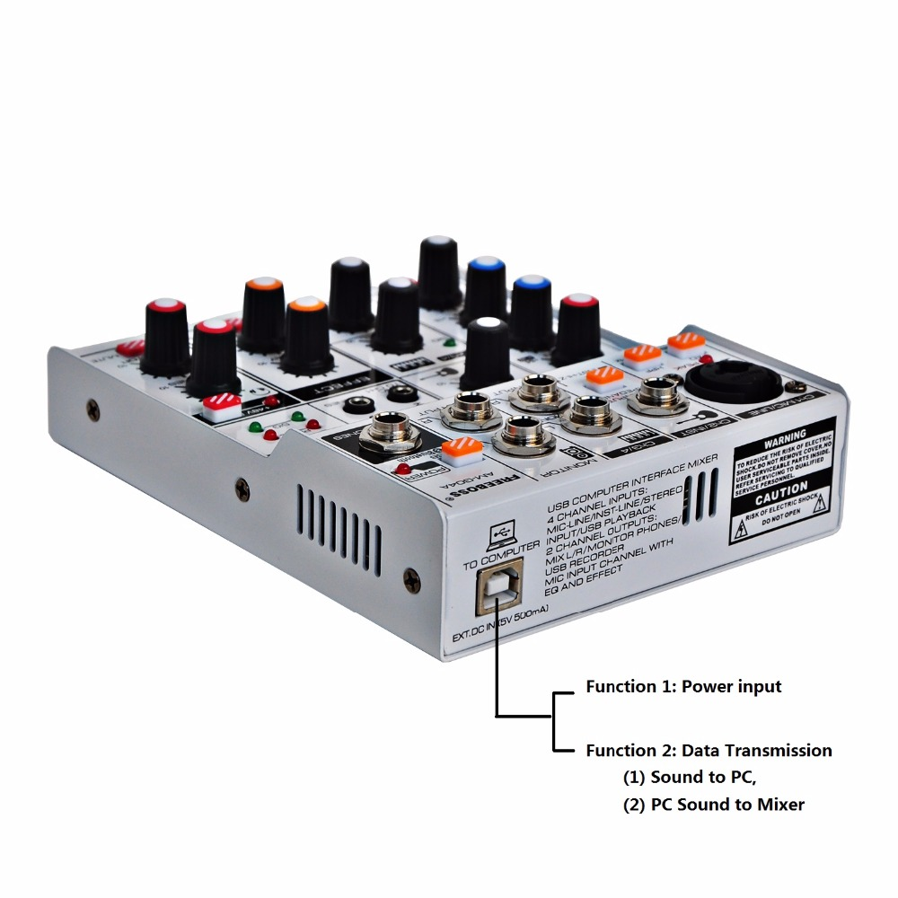 Image 2 - AM G04A Bluetooth Record Multi purpose 4 Channels Input Mic Line  Insert Stereo USB Playback Professional Audio MixerStage Audio   -