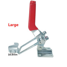1pcs GH-40341 Large Galvanized Hand Tool Toggle Latch, Catch Hasps Trailer Outdoor Marine Grade Adjustable Hasp Fastener 1pcs silver red adjustable toolbox case metal toggle latch catch clasp length