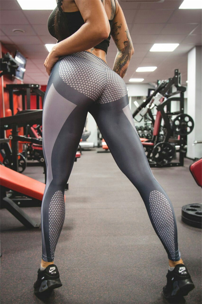 Sexy Yoga Printing Sport Legging Pants For Shemales -9208
