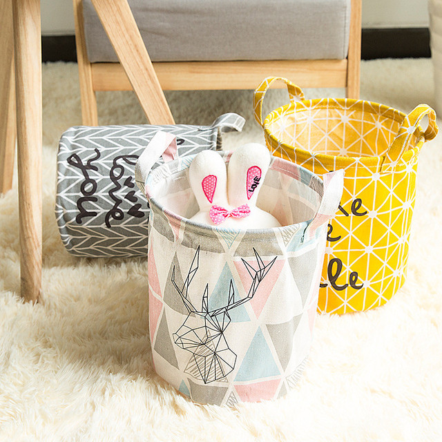 Grand panier à linge pliable panier de rangement barils de stockage pour enfants articles divers support de jouets conteneur panier organisateur sac d #