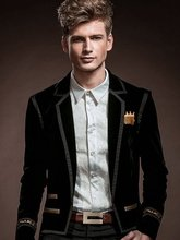 FreeShipping men's New spring fashion personality fashion Casual winter suit jacket Slim small suit jacket 14007 custom-made