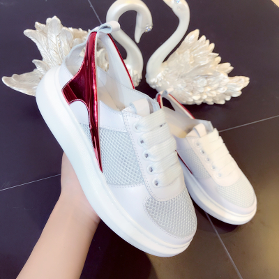Respirant Luxe Plate As Appartements Rond Picture Beertola as Bout Femme Mélanger forme De Chaussures Femmes Casual Lace Air Up Mesh Picture Mode couleur Sxn5wgPq5