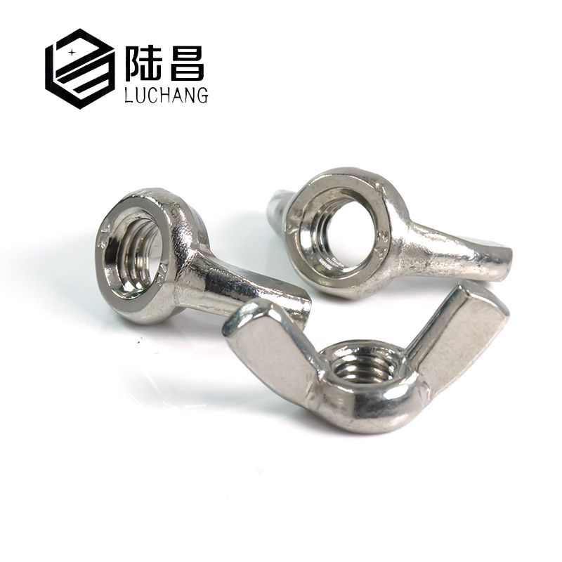 2pcs 304 Stainless Steel Fastener Precise Casting Butterfly Nuts Wing Nuts M12 Metric Silver