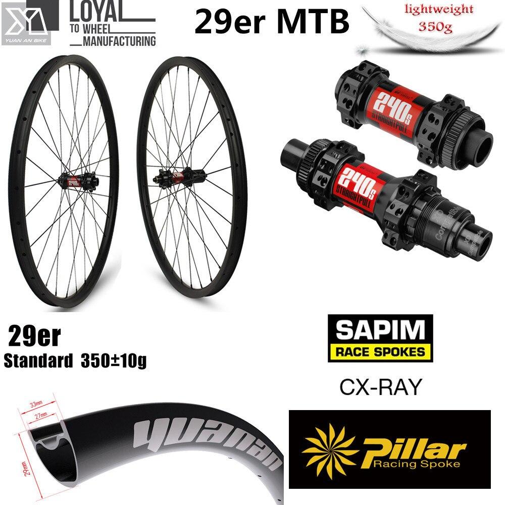 Hign End DT Swiss 240 Series Carbon MTB Wheel 29er XC AM Wheelset Chinese Carbon Rim