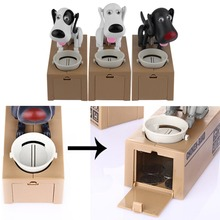 1Pc Cute Dog Model Piggy Bank Money Save Pot Coin Box Creative Gift