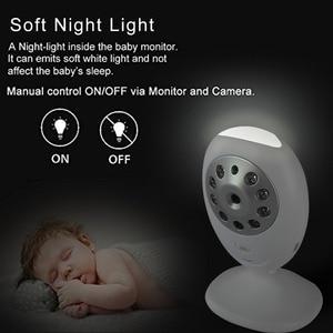 """Image 3 - ทารกไร้สายนอนMonitor 2.4 """"จอแอลซีดีวิดีโอHDการรักษาความปลอดภัยกล้องดิจิตอลสอง ทางพูดคุยใกล้วิสัยทัศน์IRอุณหภูมิร้องไห้ปลุก"""