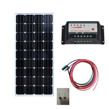 Solar Energy Panel For Home 12v 150w Charge Controller 12v/24v 10A Waterproof Charger Lamp Motorhome Camp