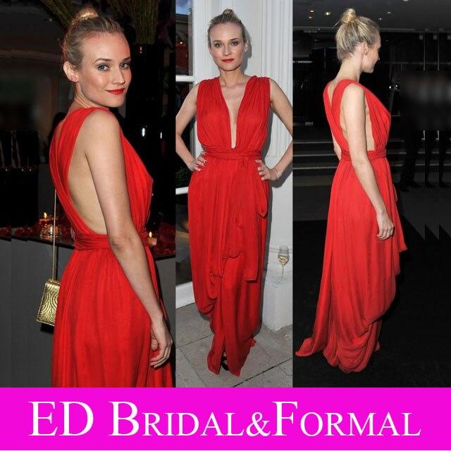 Красные платья ковровой дорожки