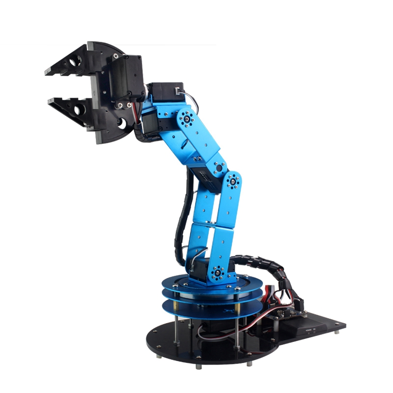 DIY 6DOF RC Robot Arm Open Source Mechanical arm With Claw Holder Digital Servo for RC Models Toys Tool jx pdi 5521mg 20kg high torque metal gear digital servo for rc model