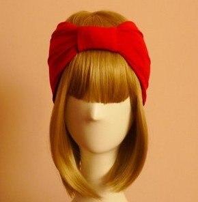 Hotsale Retro (Red+Black)Block Colors Headband Women Two Face Wear Headscarf Hijab Turbans Fashion Woman Hairbands Red Black