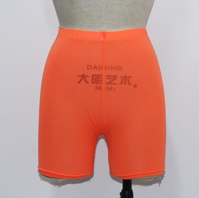 High Waist  See Through Neon Mesh Swim Shorts Cover Up 4