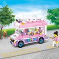 Игрушка грузовик мороженого Блок 213 шт. Образования DIY Строительного Кирпича Мобильных льда корзину С Роль Куклы Совместимость Legoelied Лепин