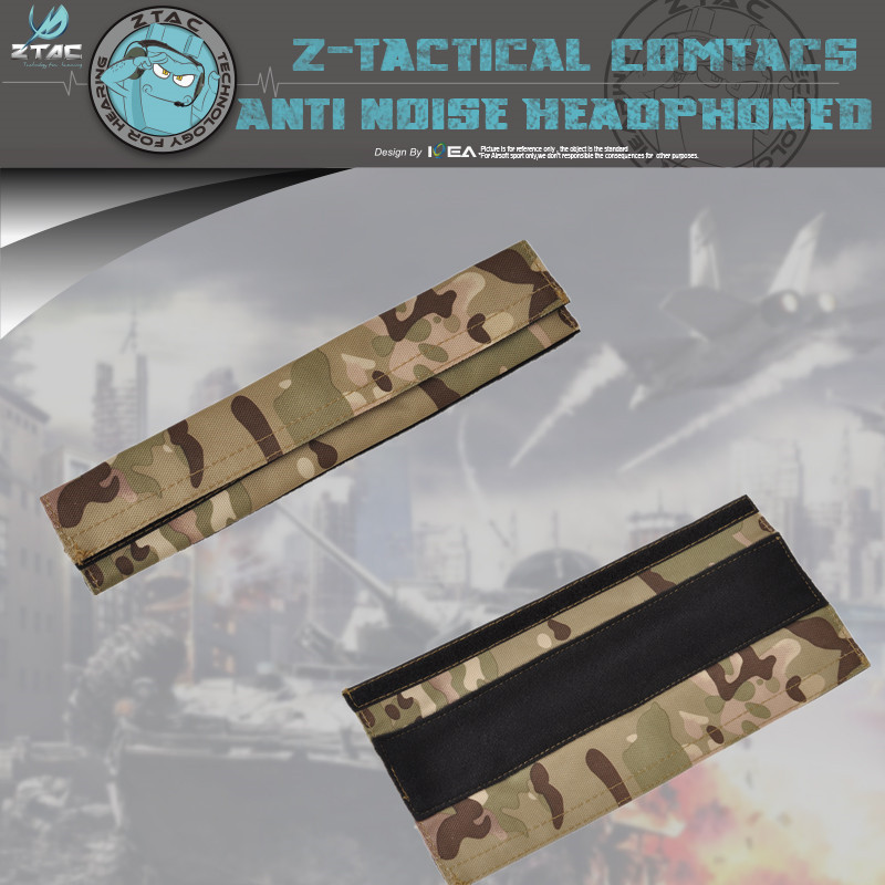 Z-Tactical  Nylon Cloth Headband Replacement For Airsoft Tactical Comtac Sordin Headset Camo Z008
