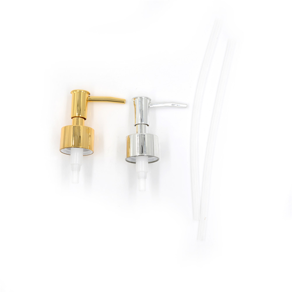 Practical & Good Quality 1Pc Plactic Soap Pump Liquid Lotion Gel Dispenser Replacement Jar Tube Tool Gold Silver