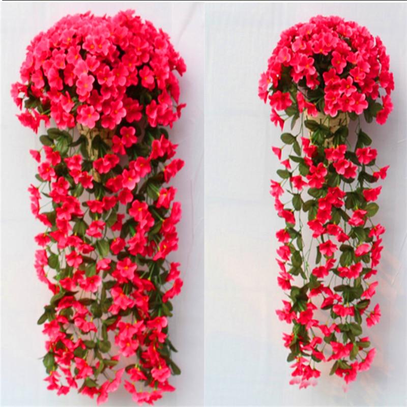 diy Svatební dekorace umělé květiny vzor fialová zeď svatební dekorace domácí falešný simulace květina velkoobchod květina v
