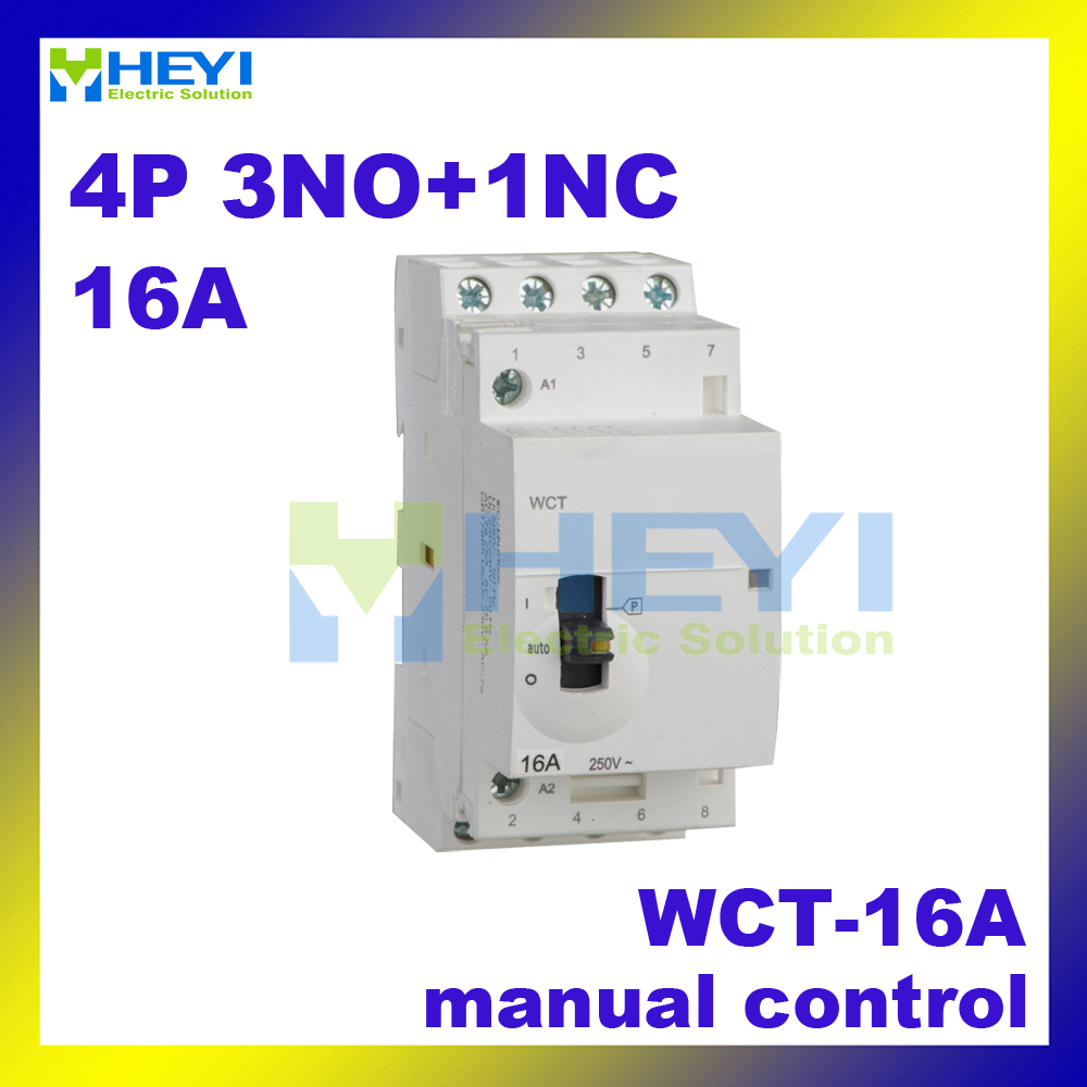 Modular Compact Contactor Wct 16a 4p 3no 1nc 220vac 50hz With Machine Circuit Board Buy Boardwelding Manually Operated Mini