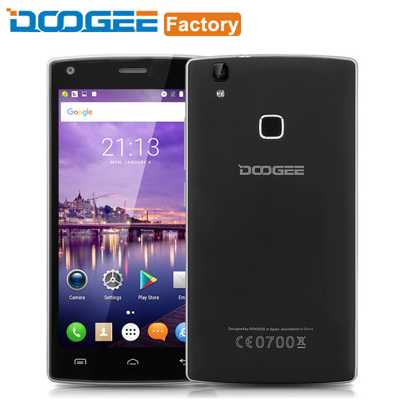 Doogee X5 MAX Cell Phone Fingerprint MTK6580 Quad Core 1GB RAM 8GB ROM Android 6.0 Smartphone 5.0 Inch 1280x720 3G Mobile Phone