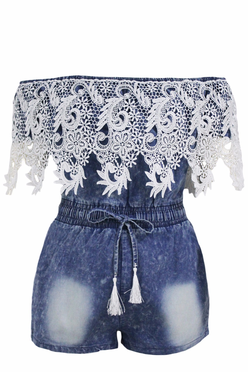 Crochet-Lace-Trim-Off-Shoulder-Denim-Romper-LC64137-5-3