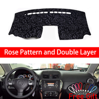 Rose Pattern For SUZUKI SX4 2006 2007 2008 2009 2010 2011 2012 2013 2016 Car Stickers Car Decoration Car Accessories Car Decals