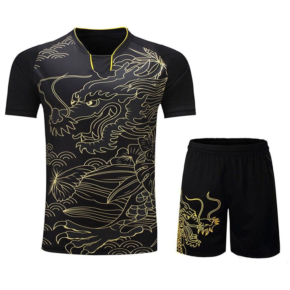 Tuta Jersey Di Badminton Traspirante Camicia Uniformi Delle Donne/uomini Vestiti Di Tennis Da Tavolo Gioco Di Squadra Manica Corta T Camicette E Shorts