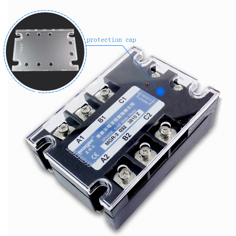 Free shipping 1pc High quality 10A Mager SSR MGR-3 032 3810Z DC-AC Three phase solid state relay DC control AC 10A 380V single phase solid state relay 220v ssr mgr 1 d4860 60a dc ac