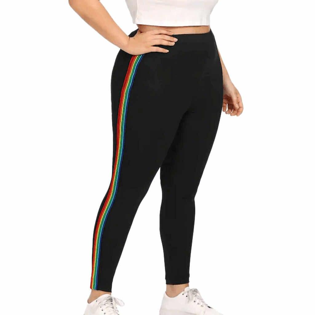 2019 HOT NUOVI Pantaloni Delle Donne Più Il Formato 5XL Casual Stampato Elastico Fitness Sport Leggings Sportive di Alta Pantaloni A Vita Dropship брюки