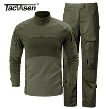 TACVASEN Tactical Uniforms Men Airsoft Military Clothing Camouflage Combat Special Force Suits Paintball Jackets Pants No Pads