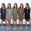 2017 Spring Dress Plus Size Casual Sexy Vintage Loose Long Sleeve Irregular Dress Chiffon Elegant Dress Women Dresses Vestidos
