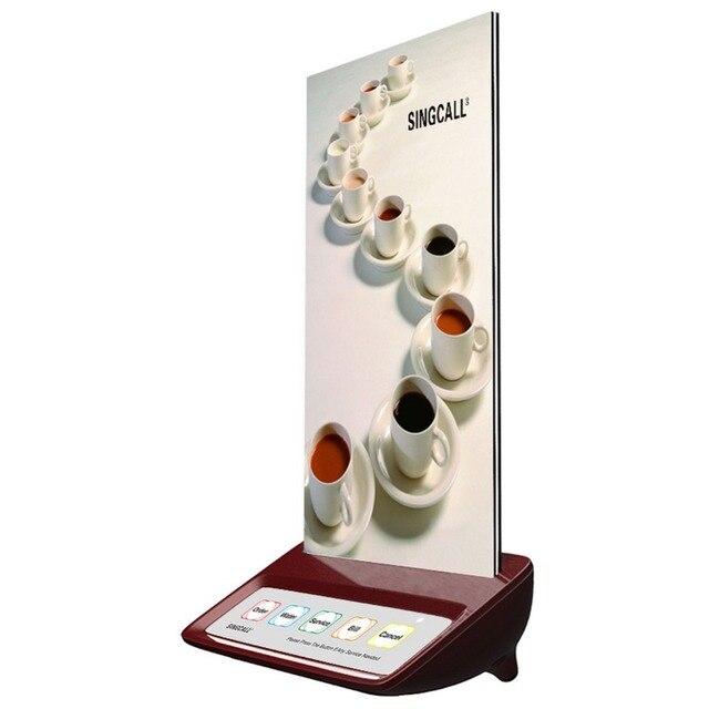 Sistema singcall sem fio chamando pager restaurante, botão de chamada garçom, vermelho pager com 5 chaves para a chamada para locais de entretenimento