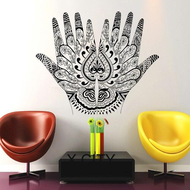 Henna Mehndi Hande Indische Muster Wohnheim Schlafzimmer Kunst
