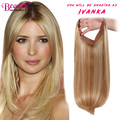 Straight Halo Wire Hidden Hairpiece Flip Virgin Human Hair Extensions NO Clip In 100G 18 Inch Pure And Ombre Color Fash In Hair