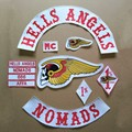 LIVE TO RIDE Motorcycle Hells Angels MC PATCHES Embroidered Iron On Patch Jacket and Vest Biker Patches